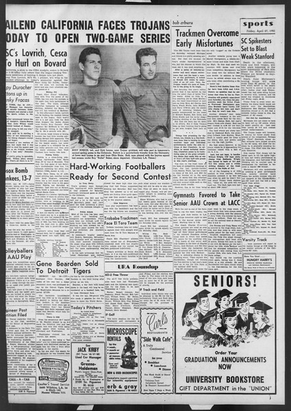 Daily Trojan, Vol. 42, No. 118, April 27, 1951