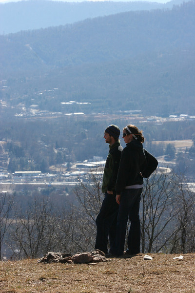 looking out over Asheville