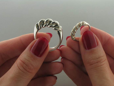 Namejs wedding set (white gold)