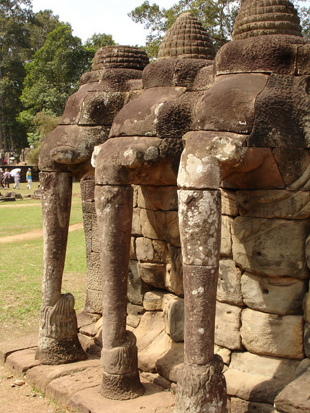 Elephant Terrace at Angkor Thom, Cambodia