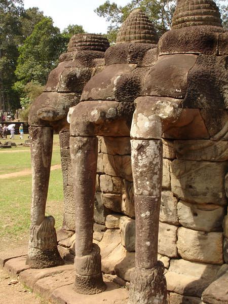 Elephant Terrace at Angkor Thom, Cambodia