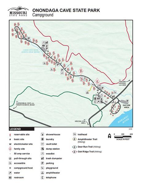 Onondaga Cave State Park (Campground Map)