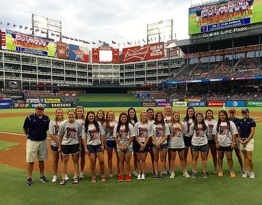 ut-tyler-softball-team-honored-before-rangers-game