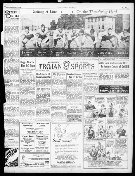 Daily Trojan, Vol. 26, No. 6, September 28, 1934