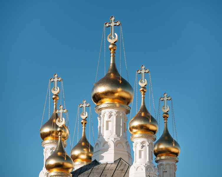 Roof of the Russian Orthodox Church of Geneva