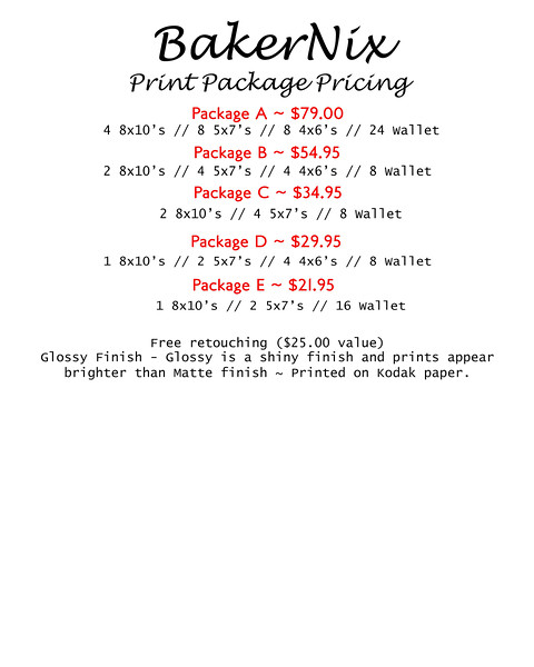 Print Package Pricing