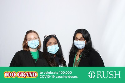 Rush 100,000th Vaccine Dose Celebration