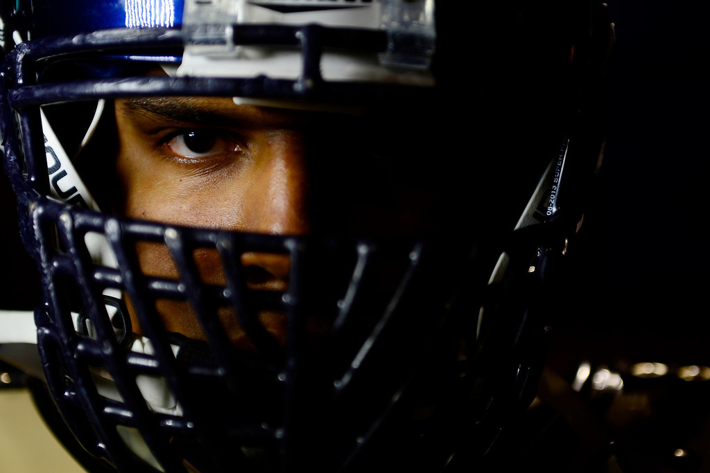 . Valor Christian starting right tackle Isaiah Holland.  (Photo by AAron Ontiveroz/The Denver Post)