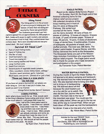 May 2002 Troop Talk - Volume 3, Issue 5