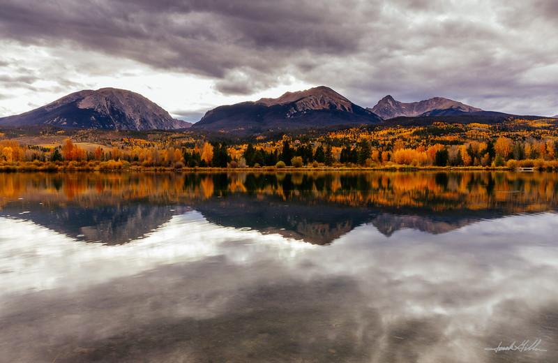 Reflections, Buffalo Mountain, Red Peak & Mount Silverthorne
