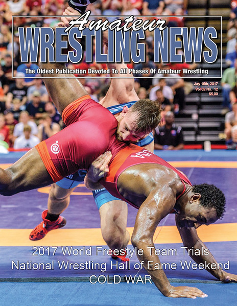 Amateur Wrestling News Cover, July, 2017