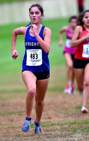 10/16/2019 Mike Orazzi | StaffrSouthington High School's Megan Wadman during the girls CCC XC Championship held at Wickham Park in Manchester on Wednesday. r