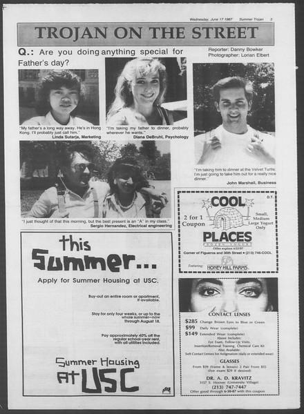 Summer Trojan, Vol. 104, No. 5, June 17, 1987