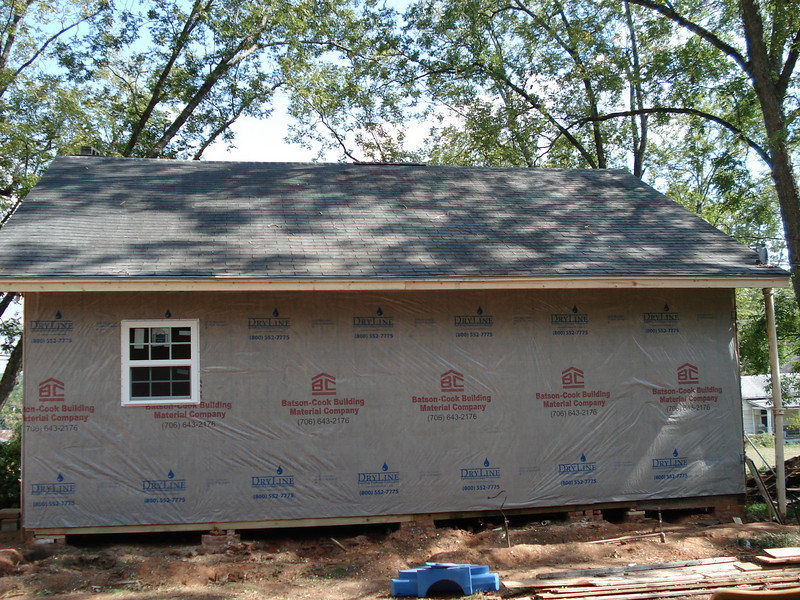 House wrap prevents leakage of hot or cold air and moisture. ck
