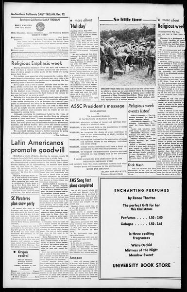 Daily Trojan, Vol. 36, No. 25, December 12, 1944