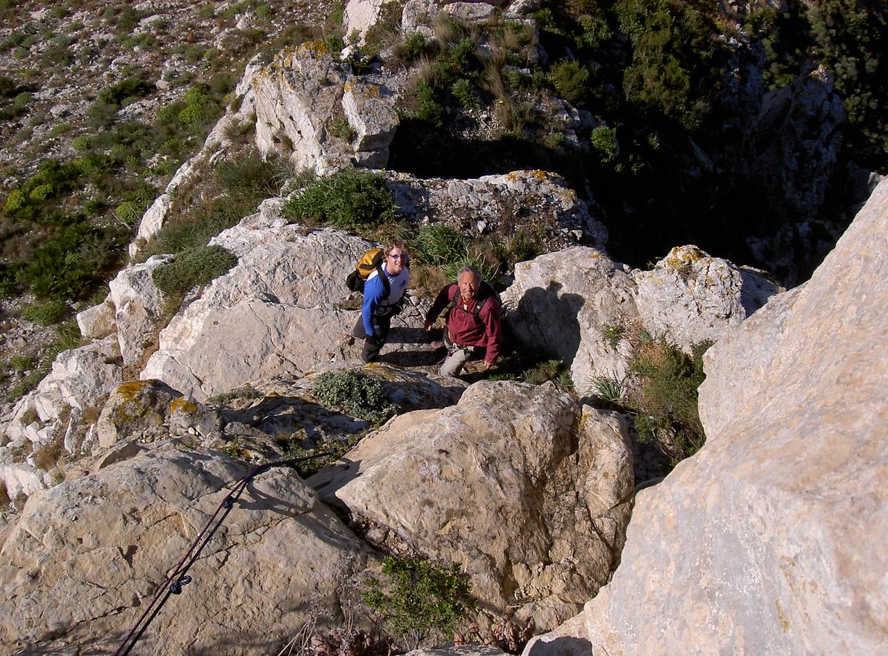 Assessing the Montgo ledge scramble