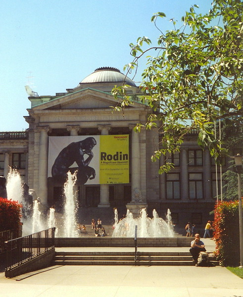 Vancouver Art Gallery - this is also a popular place for location shoots. This is a good place to see many First Nations and regional artists as well as world-class art work (2004).
