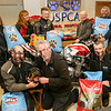 Rathfriland Motorcycle Club held their annual run to the USPCA Animal Hospital in Newry, donating 400kg of food to the hospital. <br /> <br /> Rathfriland Motorcycle Club committee members, JD Hanlon, Emma Edwards, Neil Hanlon, Kirk Hanlon (secretary), Howard Anderson (Chairperson), Stephen Boyce, and USPCA staff, Francis Fox and Martin Dobbin, along with Toby, are pictured at the USPCA Animal Hospital in Newry on Tuesday. <br /> <br /> The USPCA and the club extend a special thanks to Jollyes of Lurgan (Shane), Banbridge (Michael), and Newry (Paul). <br /> <br /> <br /> Picture by Philip Magowan