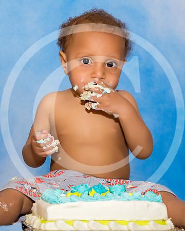TJ first birthday cake