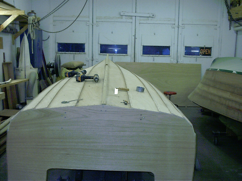 Starting to fit new outside keel.