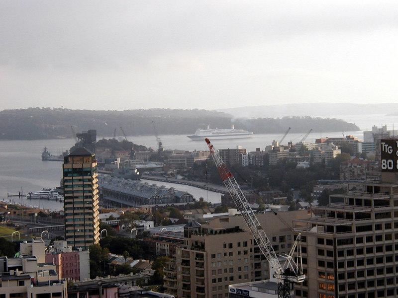 3. Cruise Ship Enters Sydney Harbor.JPG