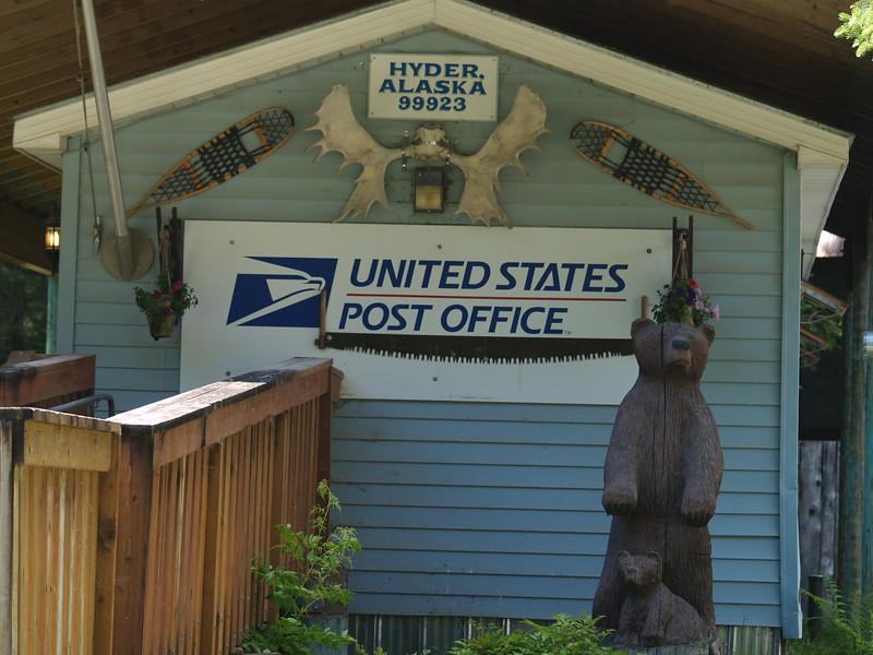 Post office at Hyder, Alaska
