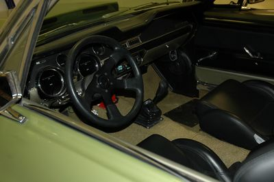 Interior of the Mustang.