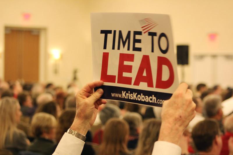 kobach debate sign gop.JPG