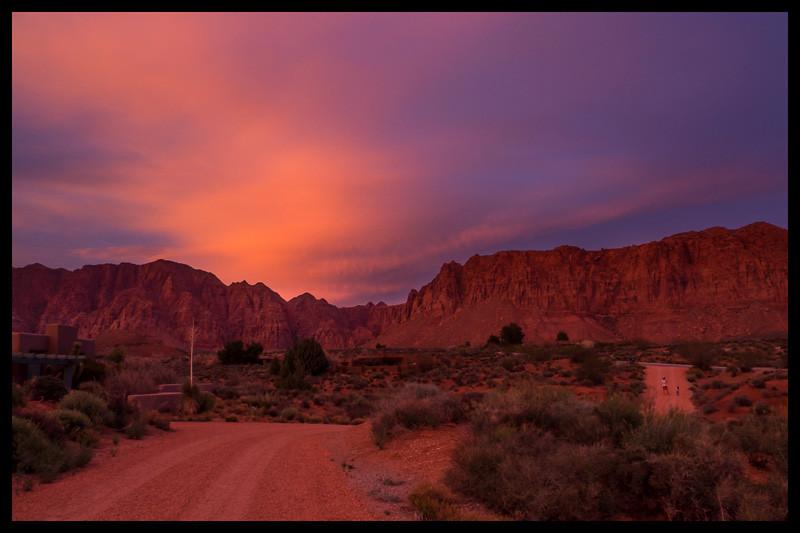 March 20 - Taking a walk at sunset in Kayenta, Utah.jpg