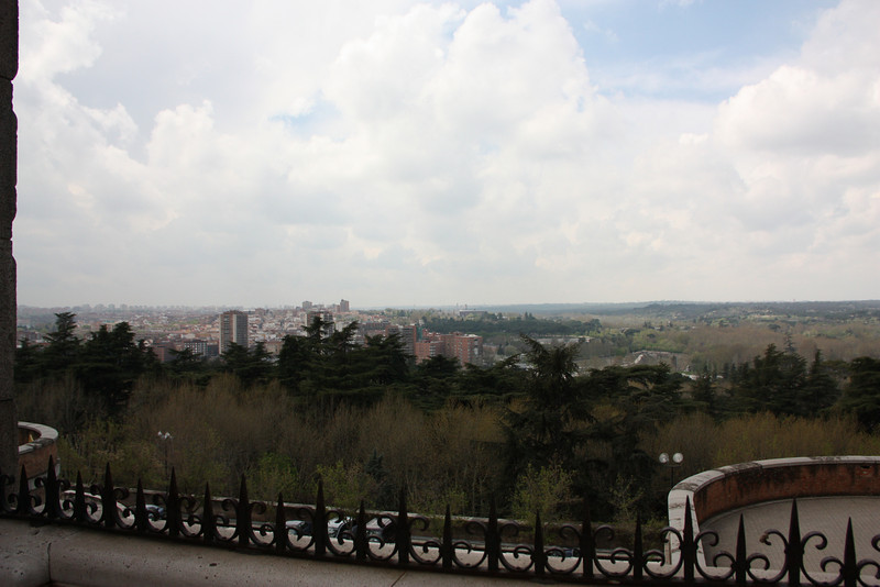 The view of Madrid from the Palacio.