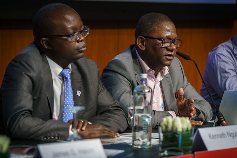22nd International AIDS Conference (AIDS 2018) Amsterdam, Netherlands.   Copyright: Matthijs Immink/IAS Regional Members' Meeting for Africa Photo shows:  Kenneth Ngure Serge Eholie
