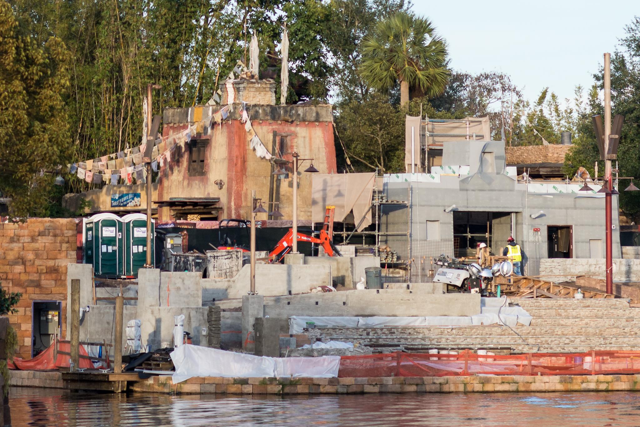 Rivers of Light Construction Progress Left Side - Disney's Animal Kingdom