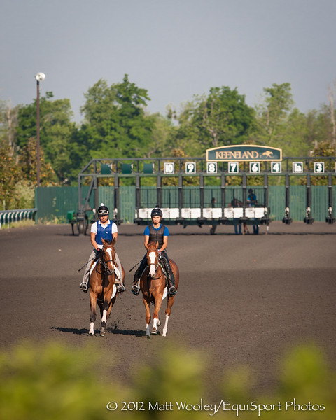 Workers gallop at Keeneland 5.02.2012