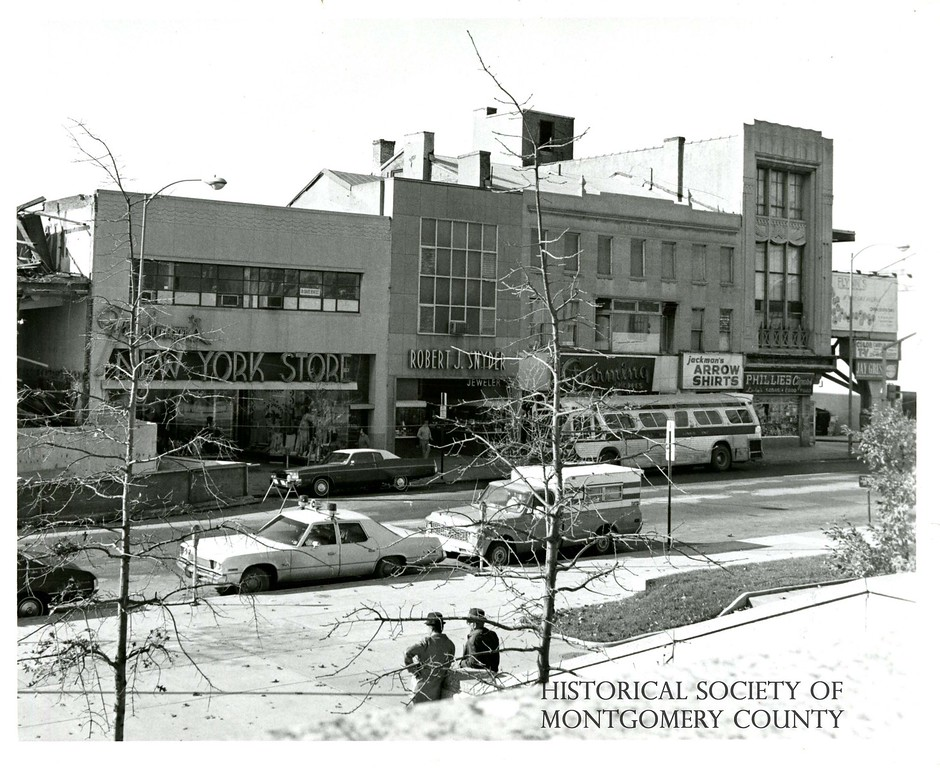 . This photograph from the Historical Society of Montgomery County shows Norristown in 1970.