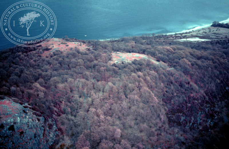 Stenshuvud, north and south peak. Infrared photography (1986). | LH.0125