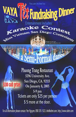 VAYA Fundraising Dinner2/Tet/Karaoke Contest