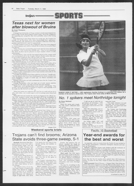 Daily Trojan, Vol. 100, No. 41, March 11, 1986