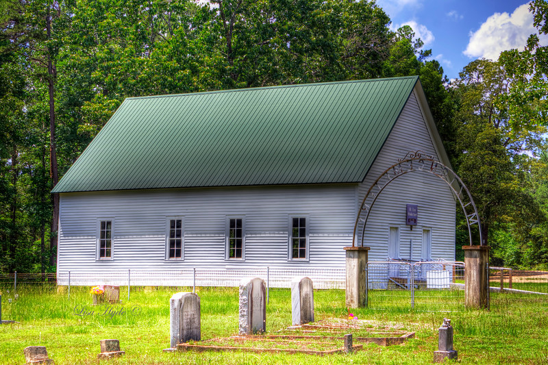 Mt. Zion Methodist Church and Cemetery - Carthage. Founded in 1881.  This building is ca 1912.