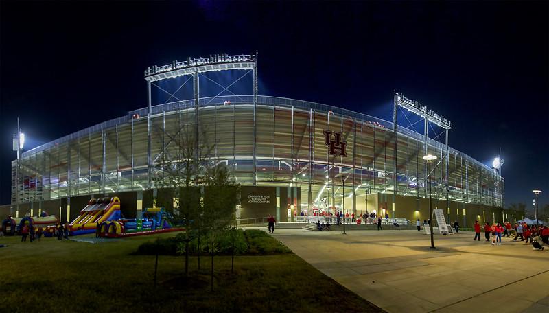 TDECU Stadium is humming, an hour before kickoff.