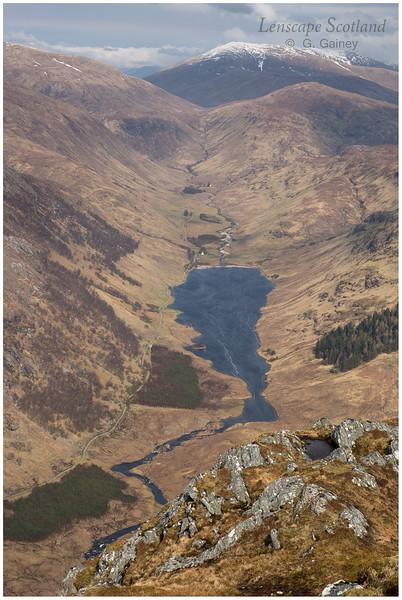 Loch na Leitreach and Srath Duilleach from Carnan Cruithneachd