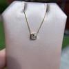 .70ct French Cut Diamond Bezel Pendant, 18kt Yellow Gold 5