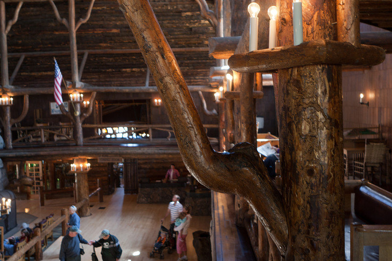 The twisted wood supports are wonderful architectural elements.