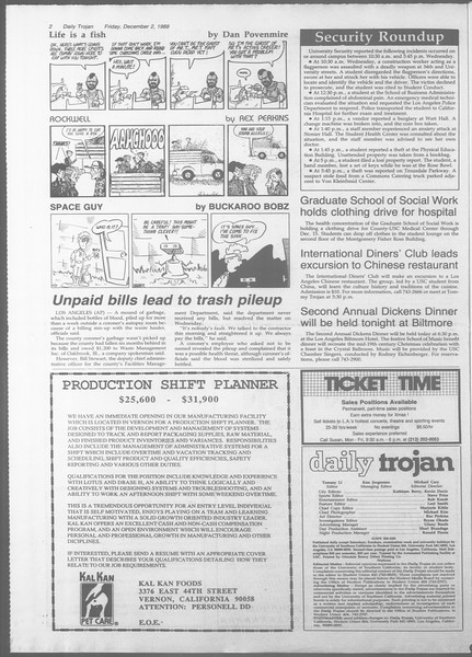 Daily Trojan, Vol. 107, No. 59, December 02, 1988