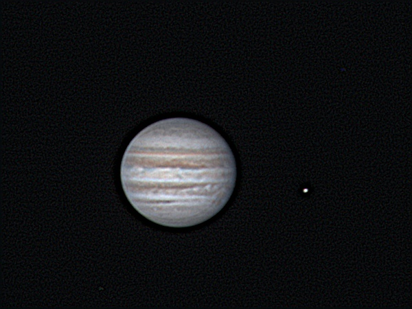 Jupiter and Io on Sept.18th 2012 at 0221 CEST