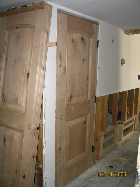 Our new interior doors.