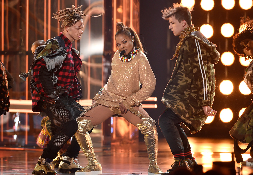 . Icon award winner Janet Jackson performs a medley at the Billboard Music Awards at the MGM Grand Garden Arena on Sunday, May 20, 2018, in Las Vegas. (Photo by Chris Pizzello/Invision/AP)