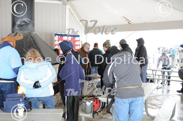 Aurora, IL Fox Valley Metro Disc Golf Club Ice Bowl at Jericho Lake 1-29-11