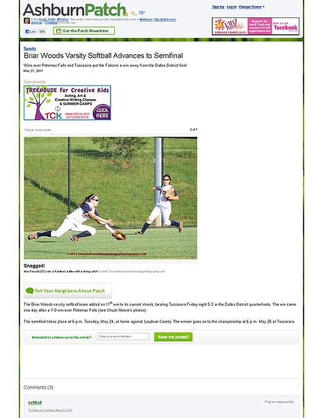 Briar Woods Varsity Softball Advances to Semifinal - Ashburn, VA Patch.png