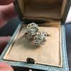 5.15ctw Old European Cut Diamond Toi et Moi Ring 12