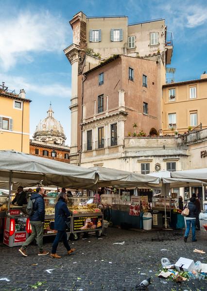 Campo de' Fiori market in Rome